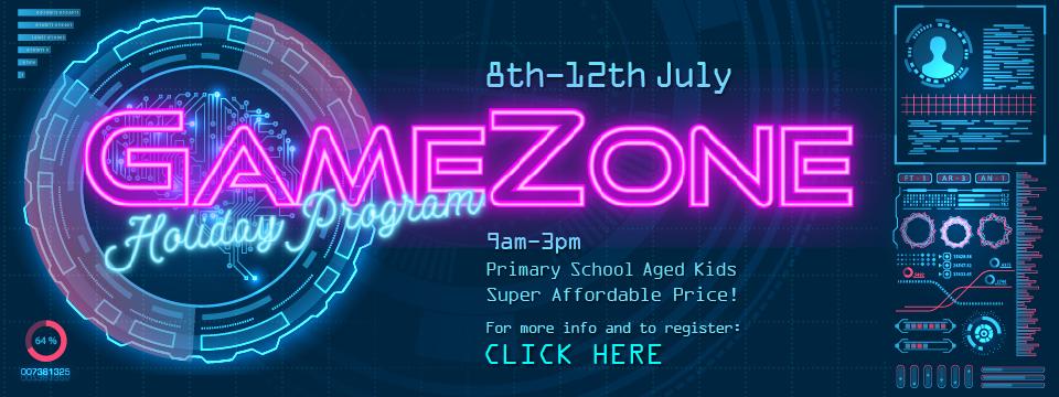 Register for GameZone Holiday Program